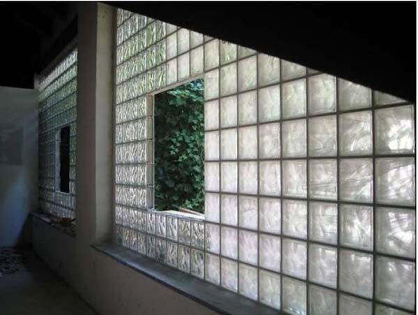 vetrata in vetrocemento