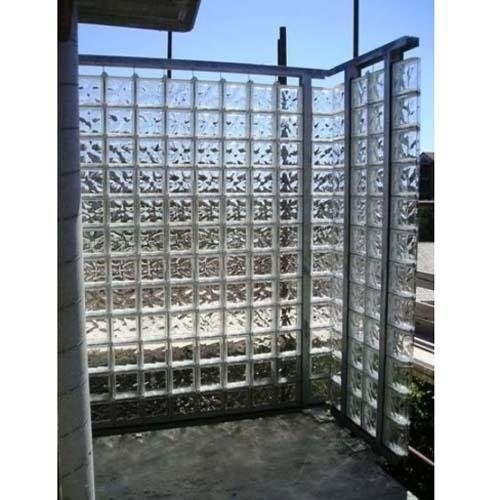parete vetrocemento terrazzo