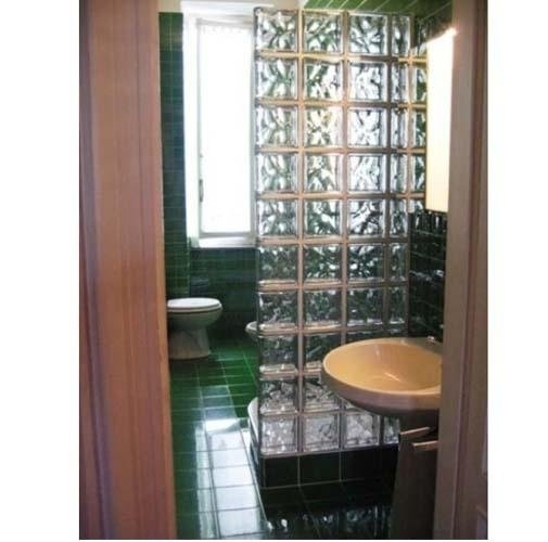 pareti vetro per bagni