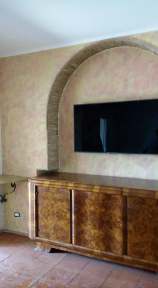 Free parete tinteggiata con gli effetti decorativi with - Effetti decorativi per interni ...