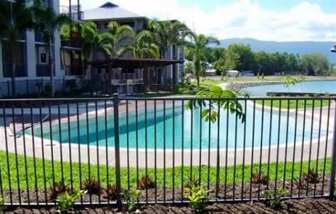 metal pool fence