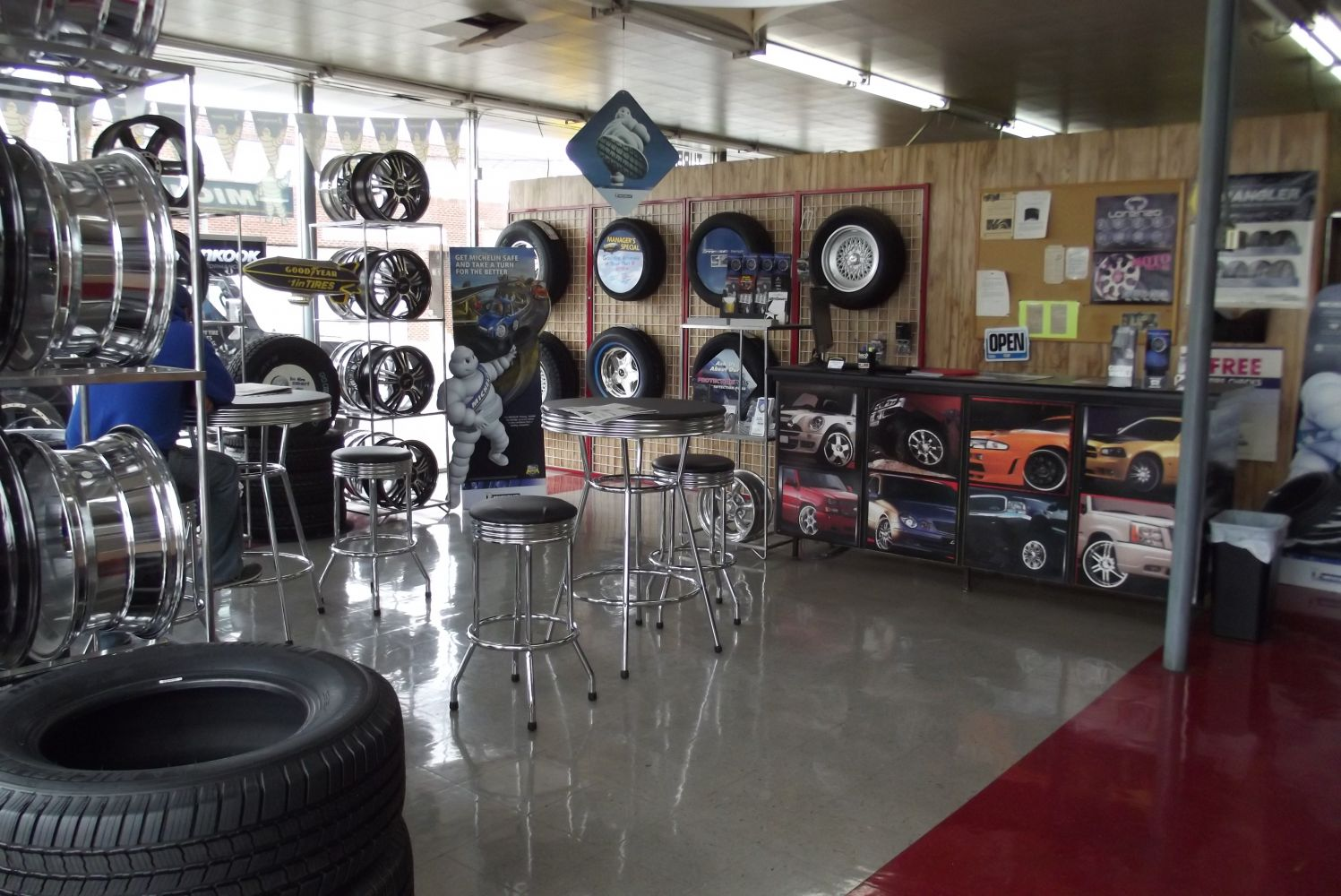 One of the largest selection of tires