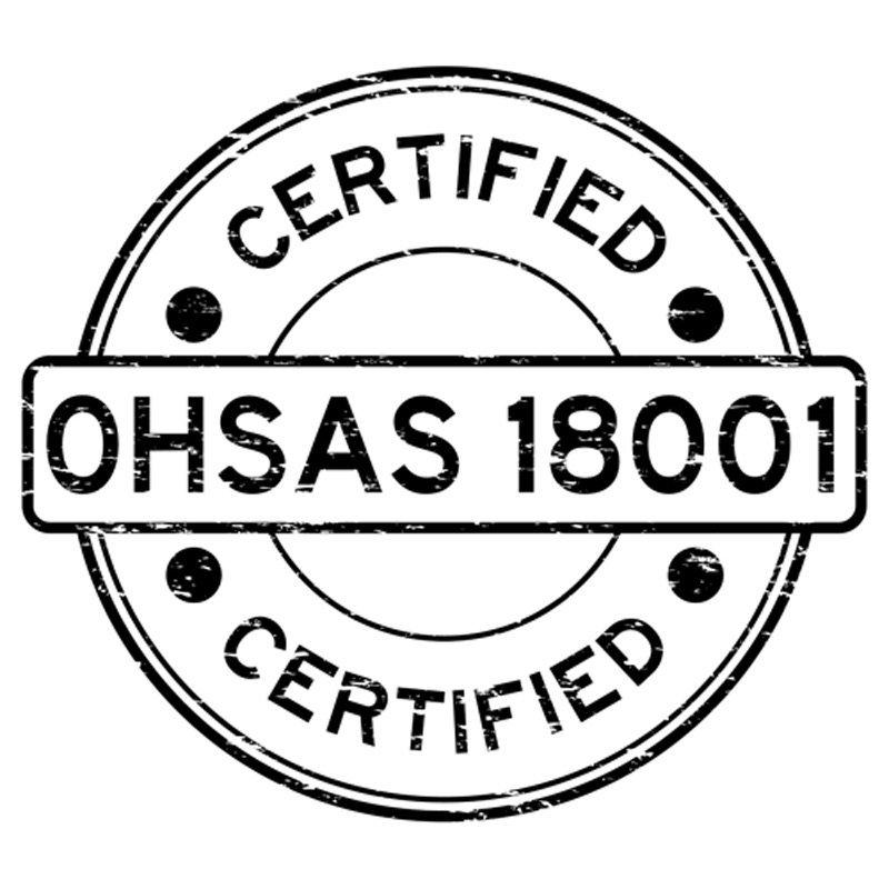 certificazione -CERTIFIED OHSAS 18001