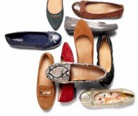 Women wearing high heel leather shoes
