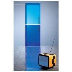 porta vetro blu