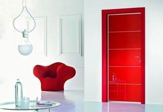 porta laccata rosso