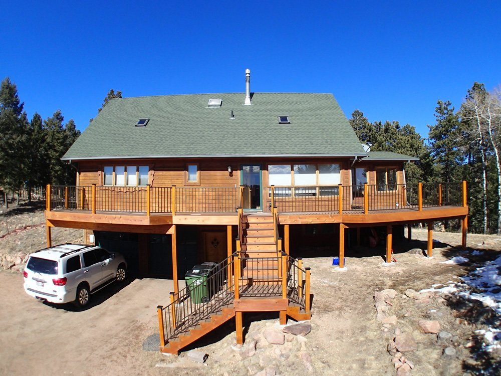 Exterior view of the deck with the treated wood in Denver, CO