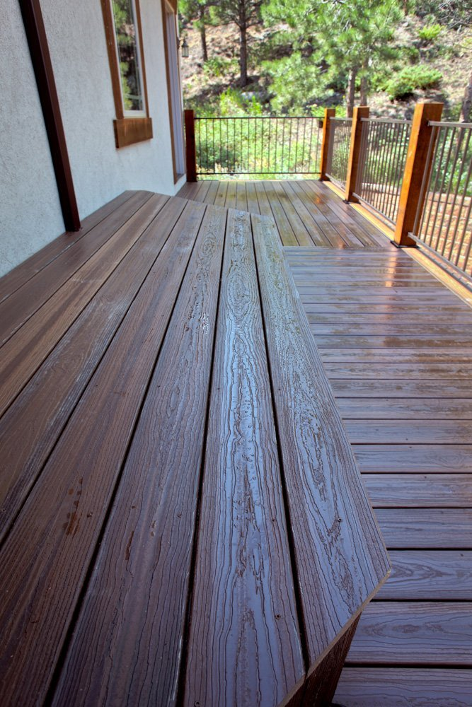 View of the spiced teak decking done in in Denver