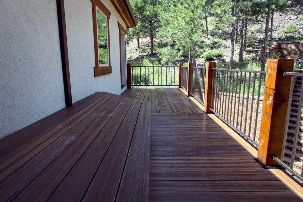 View of the wooden flooring of the deck in Denver