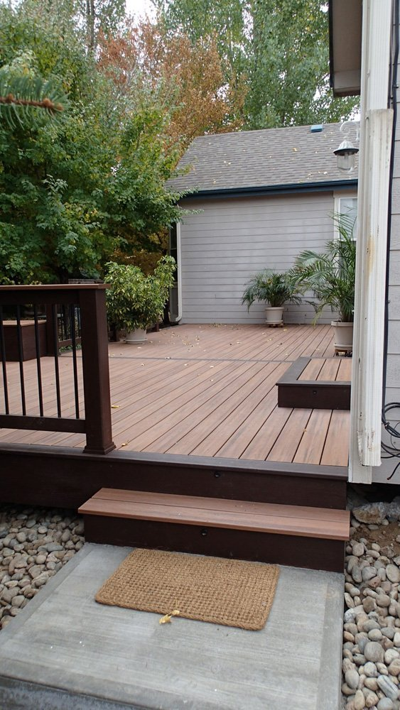 View of the steps to the deck built in Denver, CO