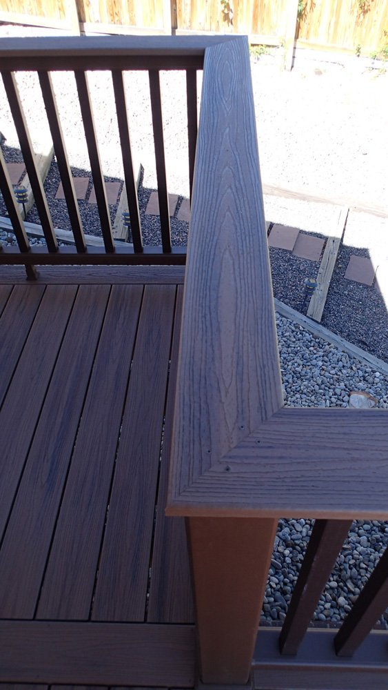 Top view of the railing system in Denver, CO