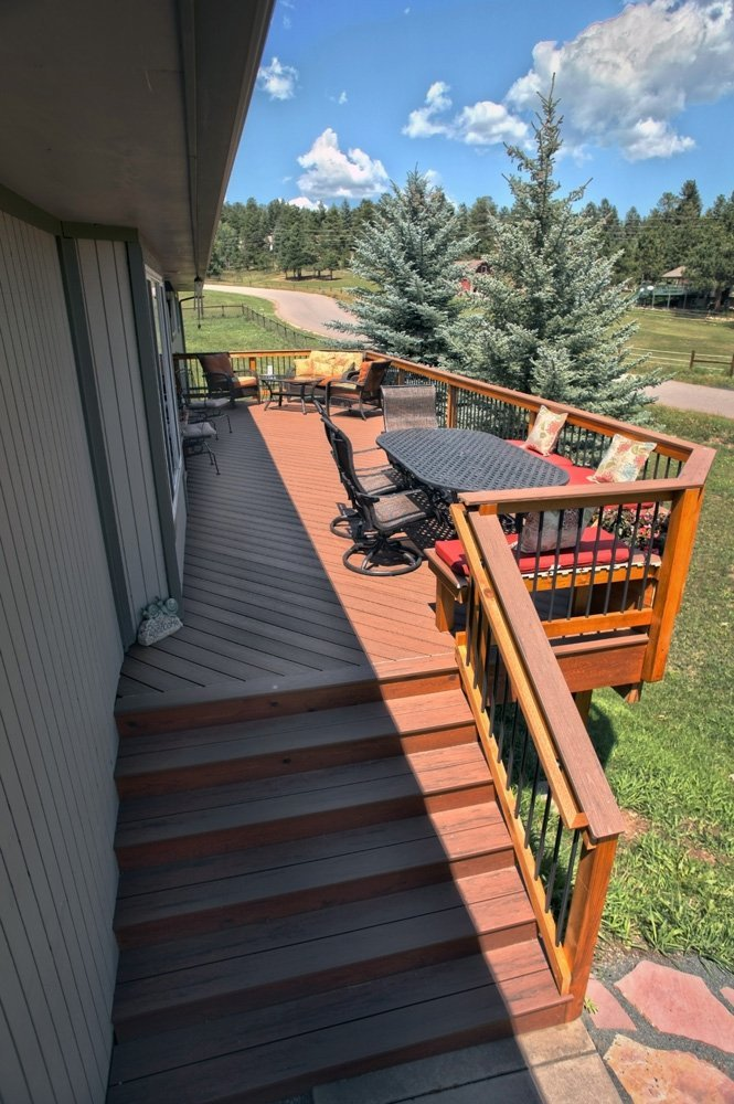 Top view of the deck in Denver, CO