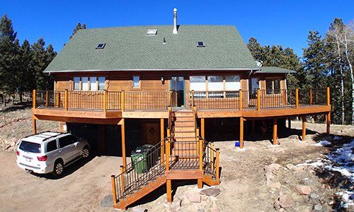 View of the deck around the house by by professionals in Denver, CO