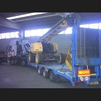 Movimentazione muletto con autocarro
