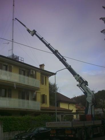 Impianto di sollevamento in funzione