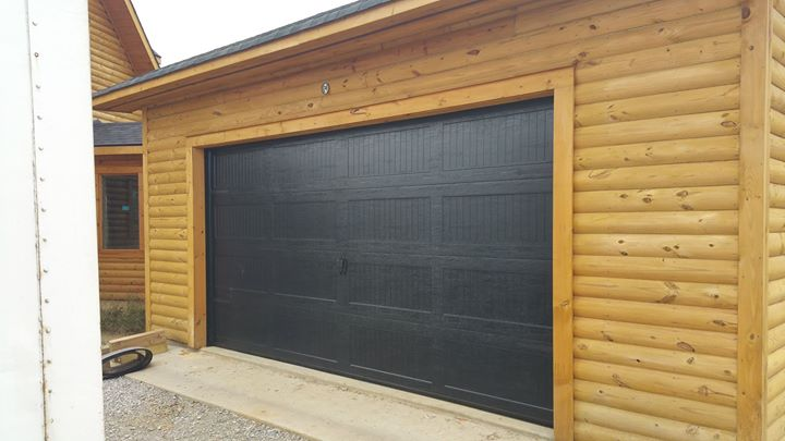 image of installed Haas garage door