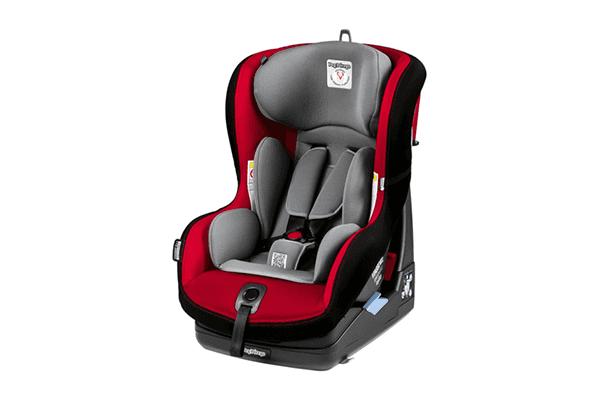 seggiolino nero e rosso da auto per la prima infanzia