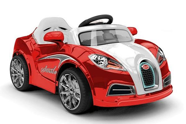 macchina elettrica rossa e nera per bambini