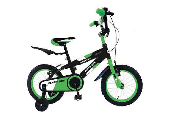 bicicletta verde per bambino