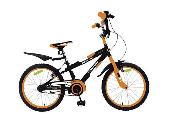 bicicletta arancione per bambino