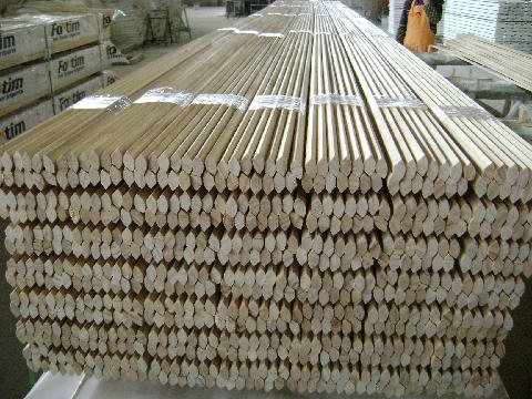 View of the stack of timber at the warehouse