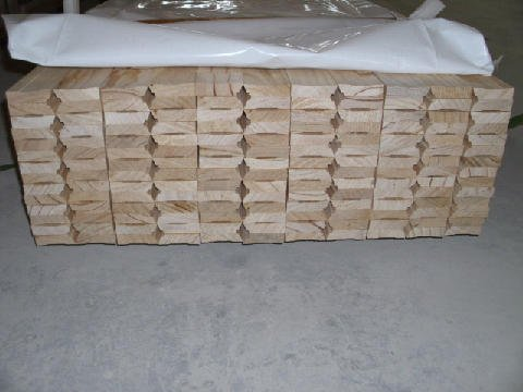 View of the stack of timber