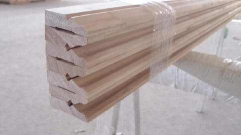 View of a packed timber order