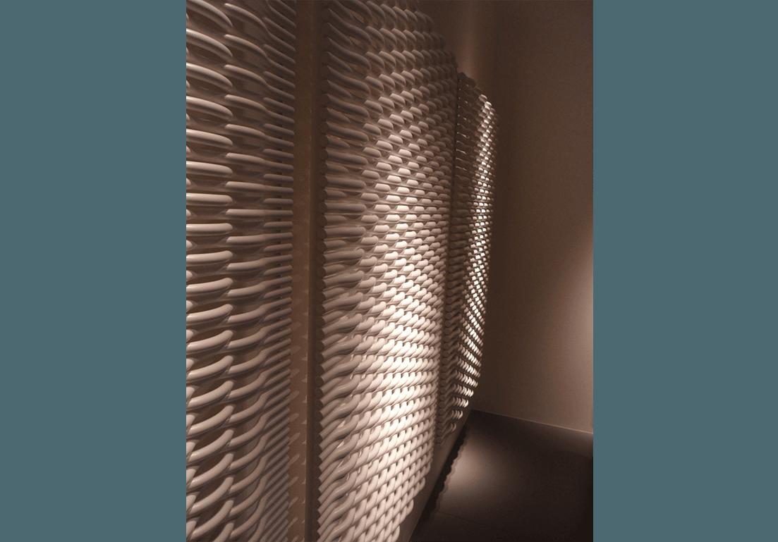 radiatore esterno installato su parete