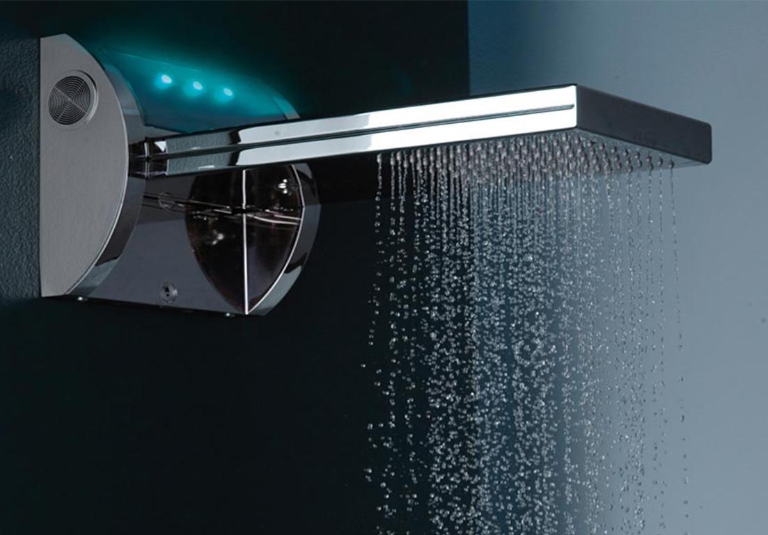 soffione doccia rettangolare