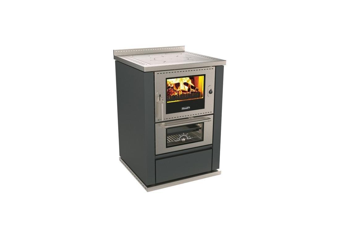 fornello da cucina con forno a legna