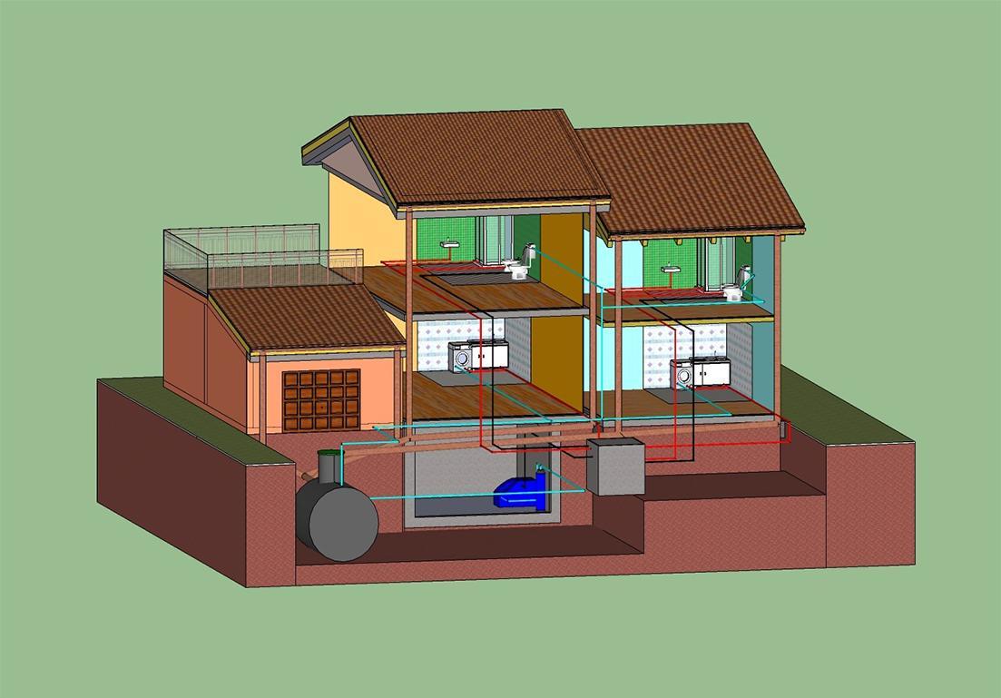 illustrazione del sistema idrico di un'abitazione