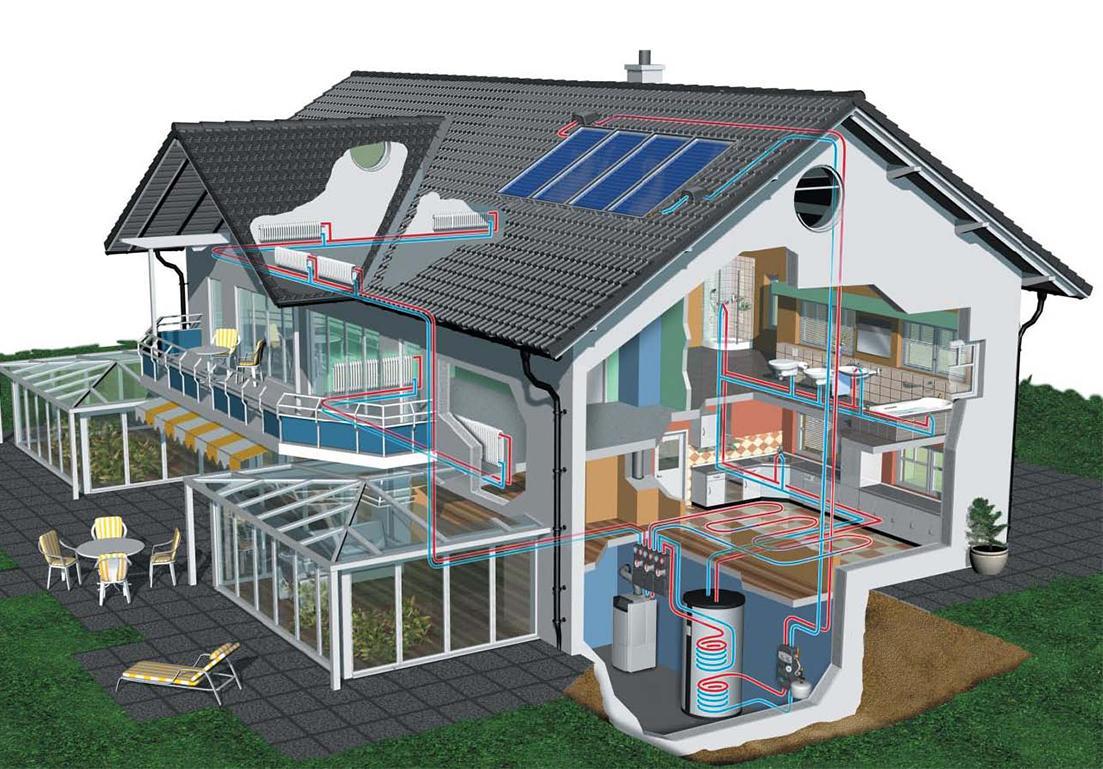 illustrazione di piantina riguardante impianto termoidraulico