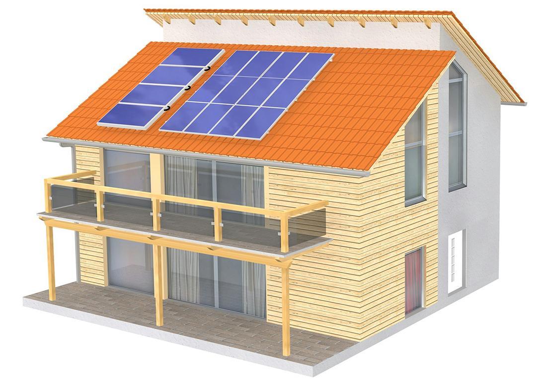 impianto enbergentico a pannelli solari per tetti