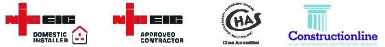 CHAS Constructionline NICEIC logos