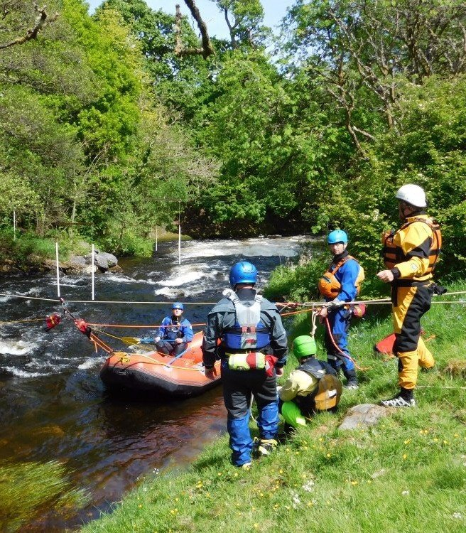 Rescue training at the National White Water Centre in north Wales