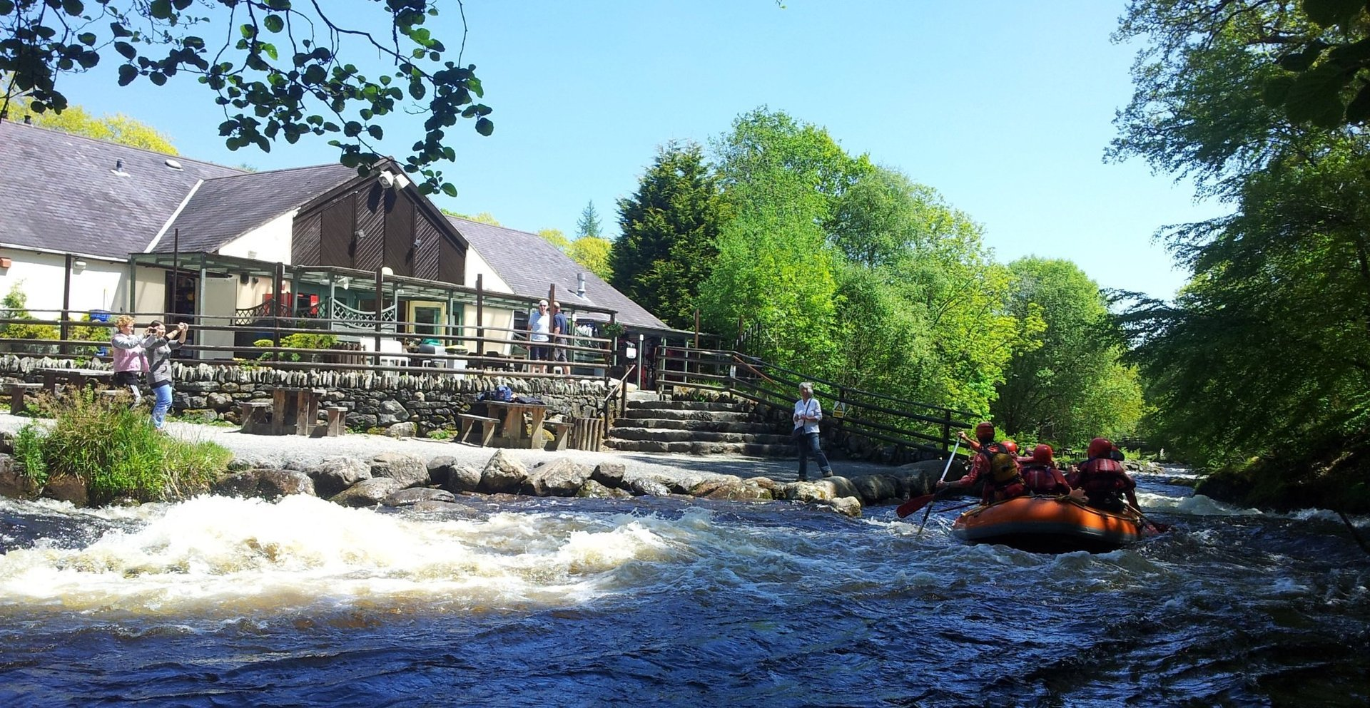 Whitewater rafting in Bala, north Wales