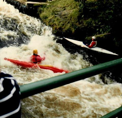 Scaffold bridge kayaking photo