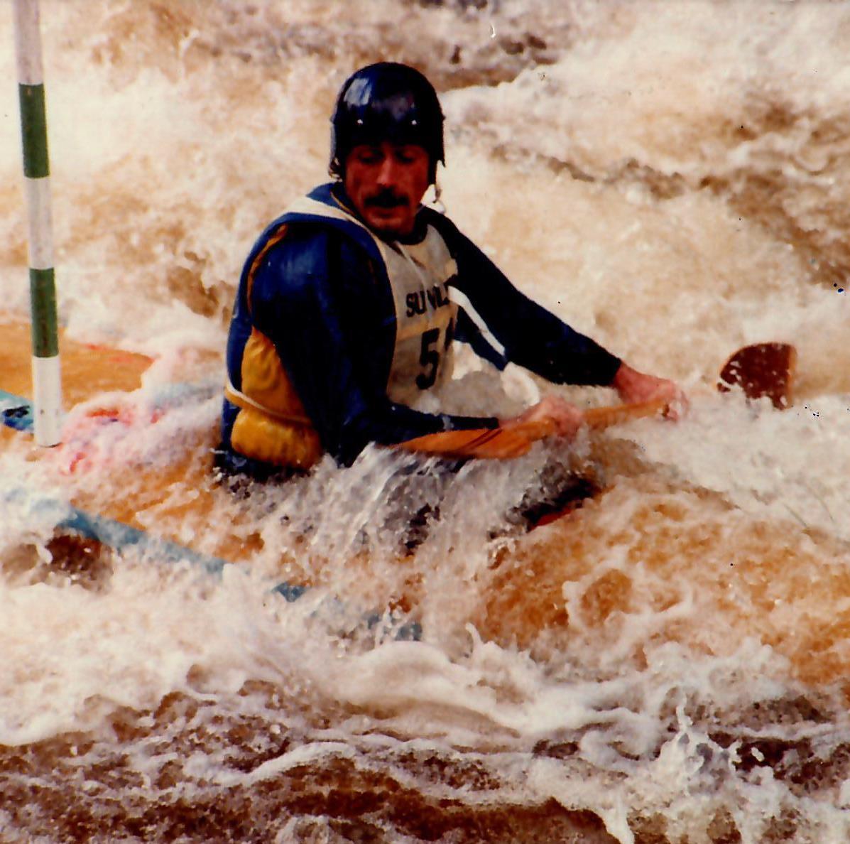 Old school kayaking on the Tryweryn