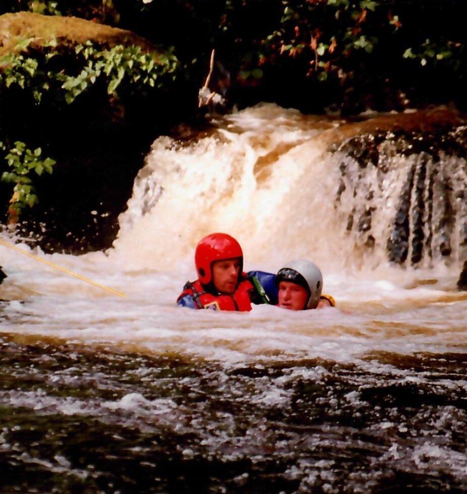 Swimming at Bala Mill  Falls