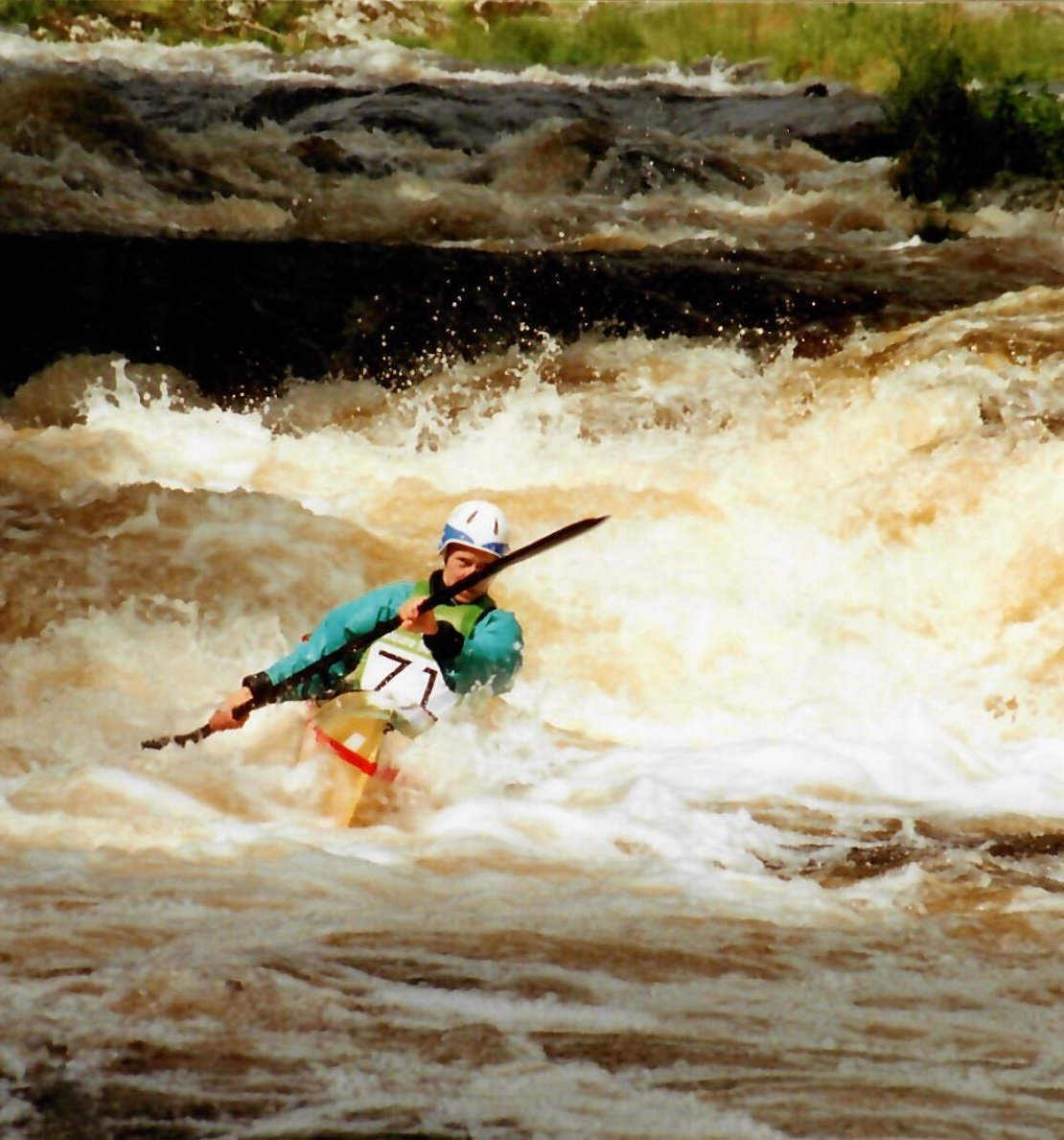 Racing kayak events at the National White Water Centre