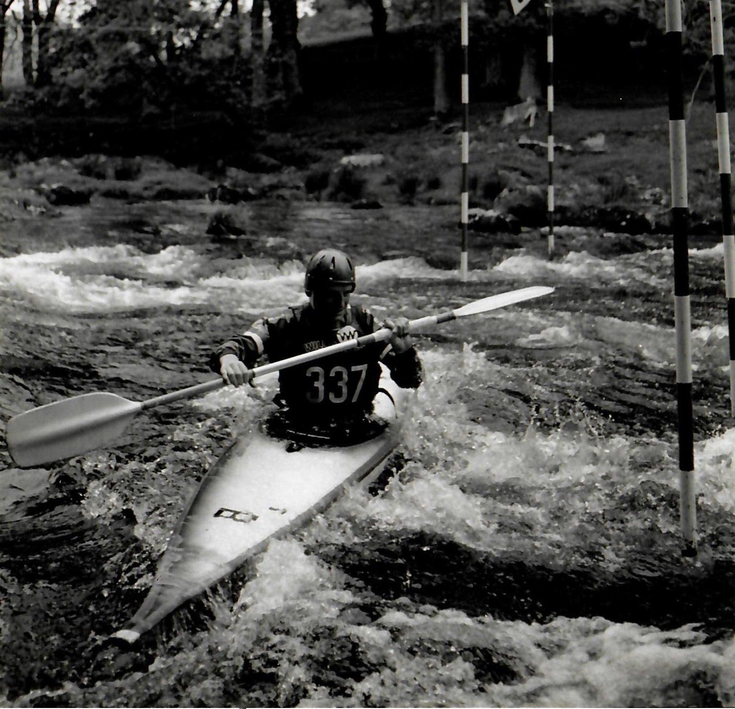 Slalom kayaking on the Tryweryn