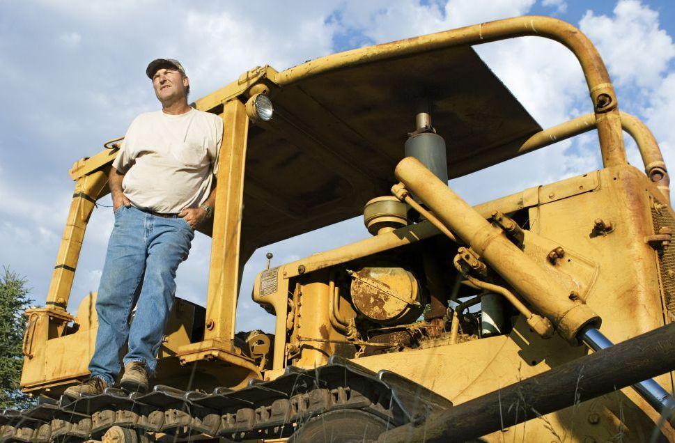 excavators on truck in Eastsound, WA
