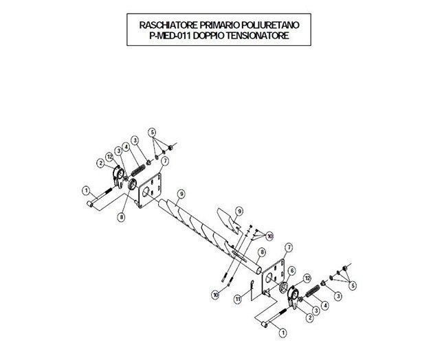 raschiatore PP doppio tensionatore