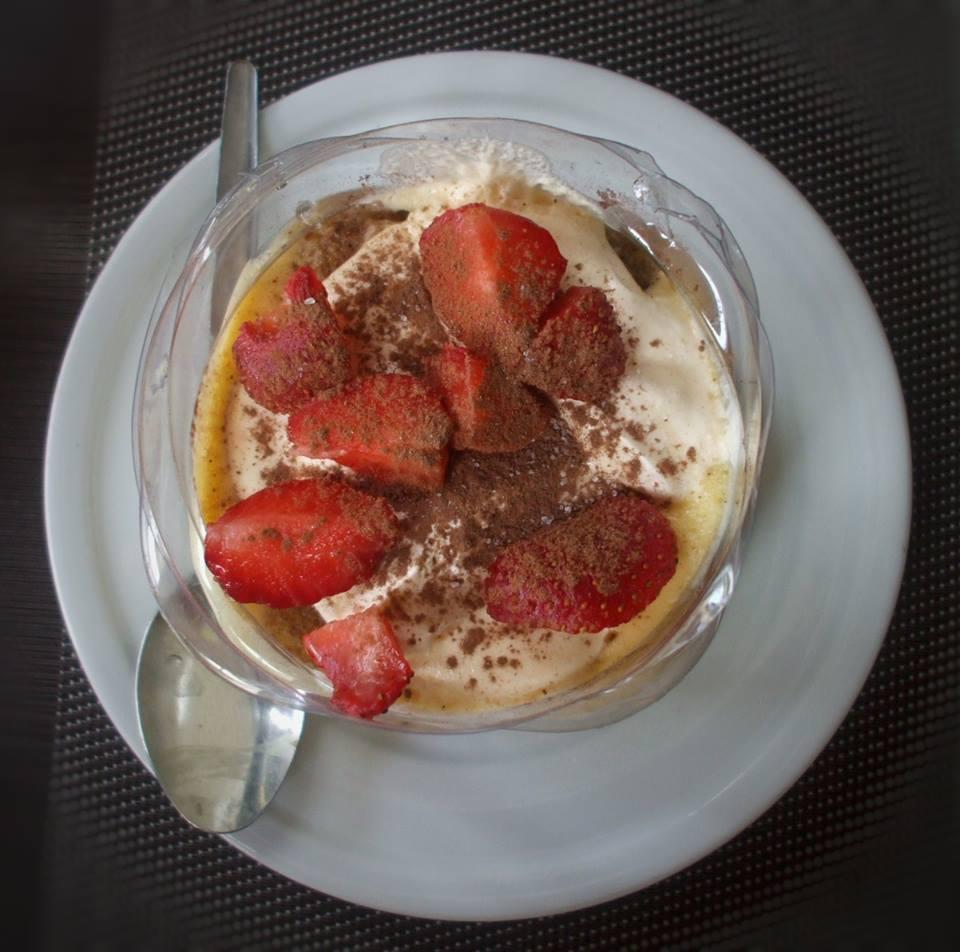 tortino crema e fragole