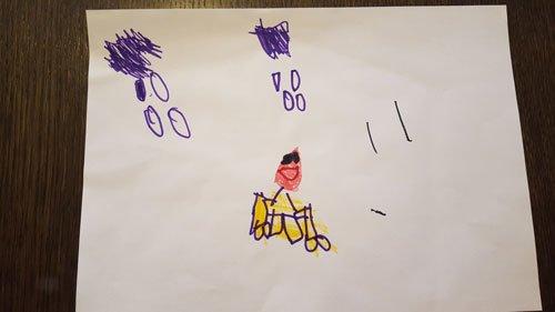 disegno fatto da un bambino