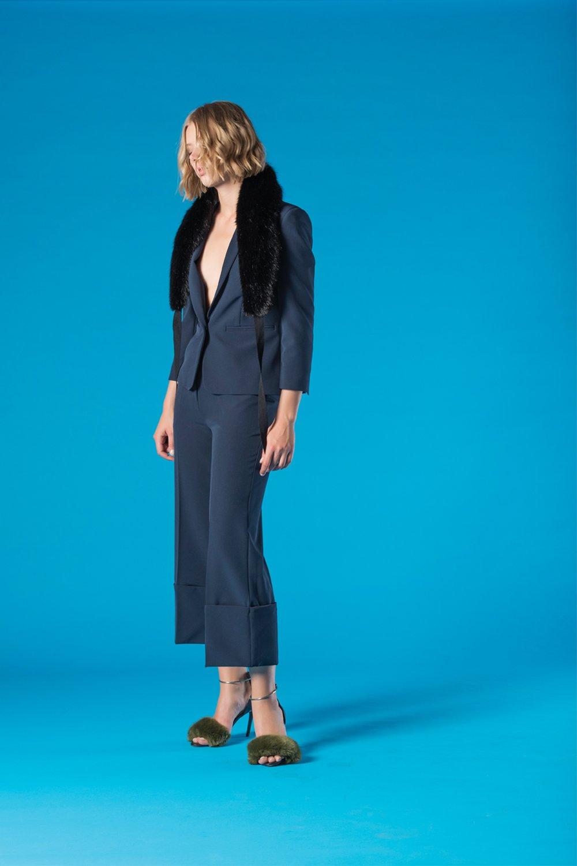completo elegante per donna color blu