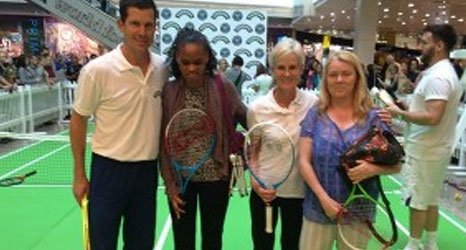 Tennis for visually impaired people