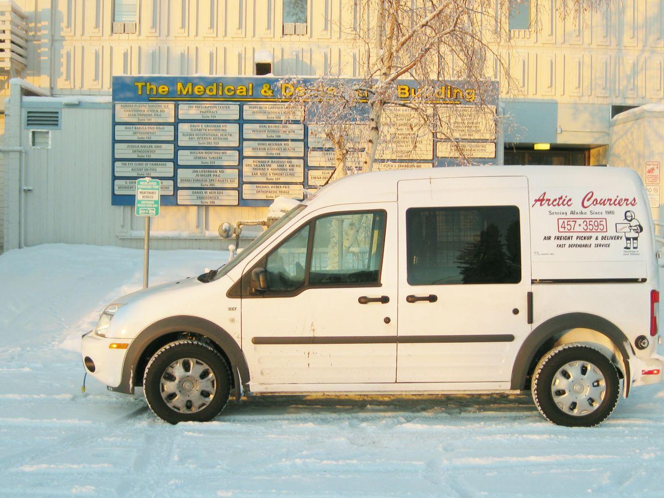 Providing medical courier service
