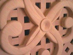 vista ravvicinata di una griglia in legno
