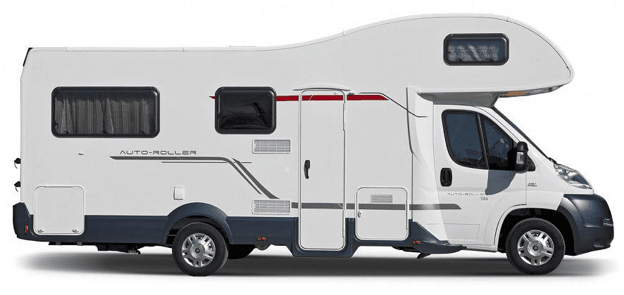 side view of motorhome